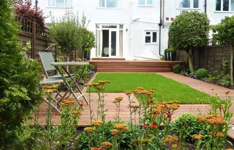 ... Small Lawn, deck gardening terrace, design decks garden, ~ STEPINIT