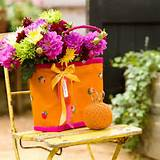 unique flower basket ideas