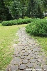 garden path ideas wooden walkway wood slices wooden walkways for