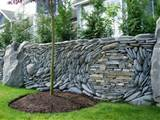 ... great option for a front entry retaining wall .....minus the tree
