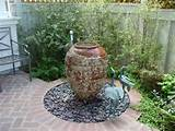 garden fountain fountains terracotta pot pinterest