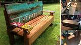 diy garden bench with an old tailgate home design garden