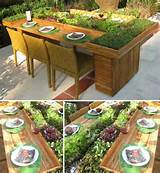 salad table | garden ideas | Pinterest
