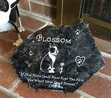 personalized gift idea custom garden stone pet loss gift polished