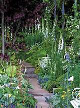 cottage garden with walkway photo by dk garden design 2009 dorling ...
