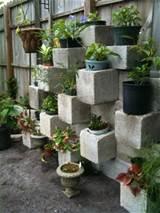 cinder block garden design