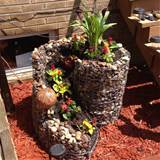 Homemade rock flower pot | Outside gardening ideas and Decor ...
