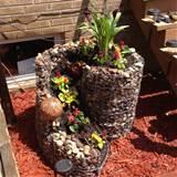 homemade rock flower pot outside gardening ideas and decor