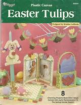 plastic canvas easter tulips 8 charming projects 7 mesh canvas spring