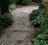 stones with gravel between and surrounding the stones will be less