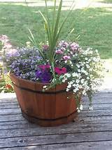 Wine barrel planter | Outdoors-y stuff! | Pinterest