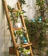 and unique garden design wooden ladders make excellent garden