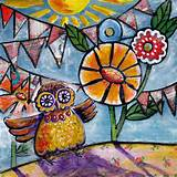 whimsical owl garden party crafts paint ideas birds pinterest