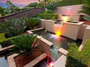 gardens waterfalls decoration olpos design