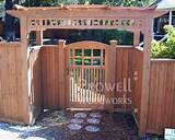wood gate design