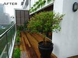 Modern Apartment Balcony Garden ideas for small spaces with wooden ...