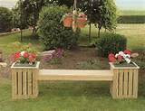 wooden garden bench planter