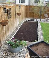 river rock around raised garden bed bye bye lawn pinterest