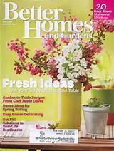 Better Homes Garden Magazine April 2011 Fresh Ideas Garden Home Table ...