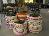 Recycled Tire Planters from Birds And Blooms Blog . (For taller tire ...