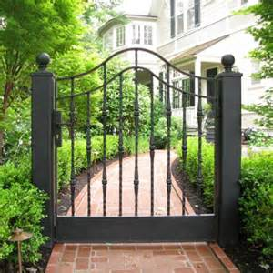 CUSTOM GARDEN GATE WTH TRADITIONAL FORGED DETAILS