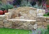 stone bench...