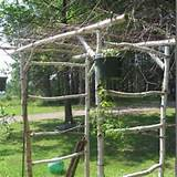Rustic garden arbor. | outdoor ideas | Pinterest