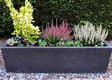 fibreglass planters trough terrazzo effect garden planter black