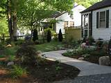 pictures of the simple front yard landscape design