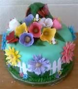flower garden cake cake ideas pinterest