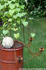 ... garden trellis. One of many unique planters at eclecticallyvintage.com
