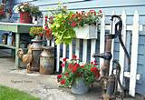 ... for my garden junk goodies along one side of the house last summer