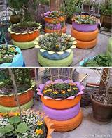gardens idea cute idea recycled tired flower beds tired planters