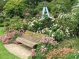 strangely commonplace garden seat for such a picturesque location