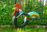 tire recycling creative cock garden decoration tires diy project