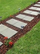 diy paver rock walkway yards pinterest