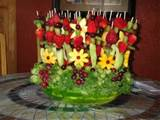 Decorative fruits Ideas , Fruit Boxes Table , fruits shelves ...