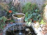 homemade garden fountain ideas