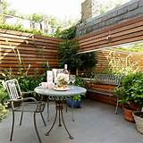 Enclosed city garden with giant mirror | Urban garden ideas | Gardens ...