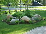 Front Rock Garden | rock garden ideas | Pinterest