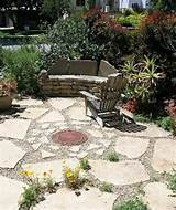 flagstone and pea gravel home porch patio pergola pinterest