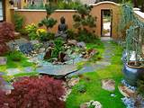 japanese zen garden with buddha statue from margie grace tags ...