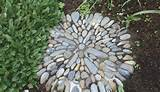 stepping stone pebble mosaic