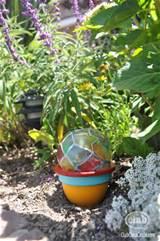 Homemade Garden Globe craft idea