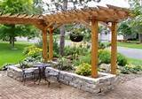 simple rock garden ideas attached to a pergola