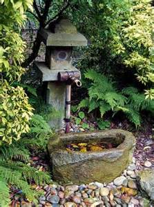 bamboo fountains for japanese gardens make exotic and modern backyard