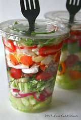 24/7 Low Carb Diner: Chopped Salad in a Cup, Great for summer picnics ...