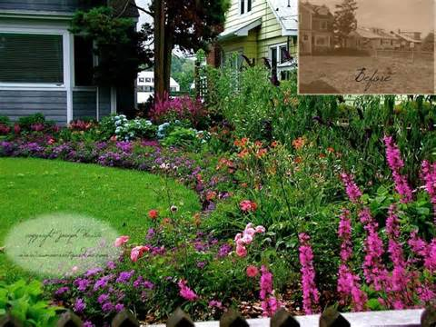 Front Yard Cottage Garden - Traditional - Landscape - new york - by ...