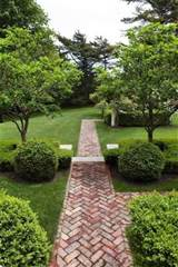 path of herringbone brick gardens pinterest