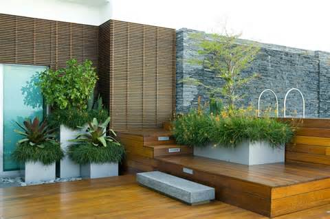 modern designs rooftop garden with good landscaping ideas and decks ...